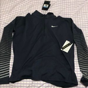 Nike Dri-FIT fleece in navy blue & silver stripes